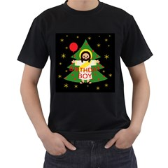 Jesus   Christmas Men s T Shirt (black) (two Sided)