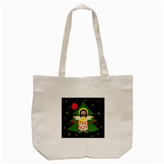 Jesus   Christmas Tote Bag (cream)