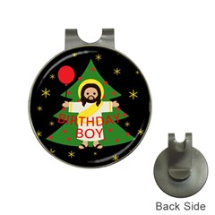 Jesus   Christmas Hat Clips With Golf Markers