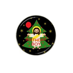 Jesus   Christmas Hat Clip Ball Marker (10 Pack)
