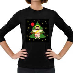 Jesus   Christmas Women s Long Sleeve Dark T Shirts
