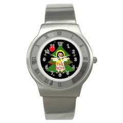 Jesus   Christmas Stainless Steel Watch