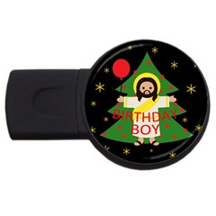 Jesus   Christmas Usb Flash Drive Round (4 Gb)
