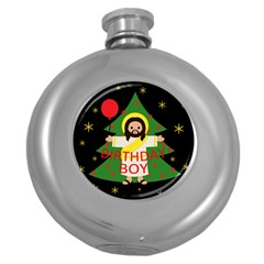 Jesus   Christmas Round Hip Flask (5 Oz)