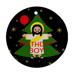 Jesus   Christmas Round Ornament (two Sides)