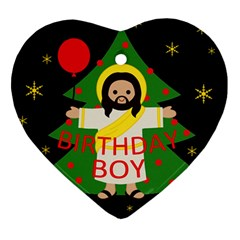 Jesus   Christmas Heart Ornament (two Sides)