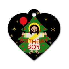 Jesus   Christmas Dog Tag Heart (two Sides)