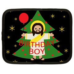 Jesus   Christmas Netbook Case (large)