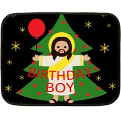 Jesus   Christmas Double Sided Fleece Blanket (mini)