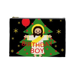 Jesus   Christmas Cosmetic Bag (large)