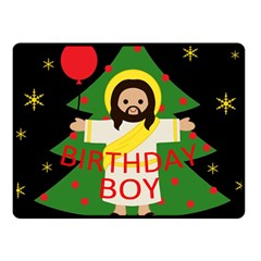 Jesus   Christmas Fleece Blanket (small)