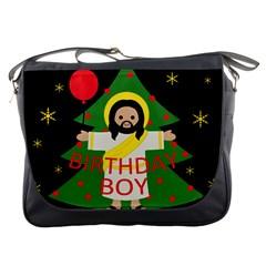 Jesus   Christmas Messenger Bags