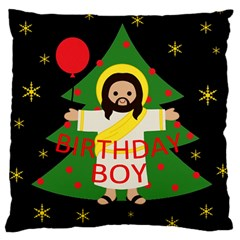 Jesus   Christmas Large Cushion Case (two Sides)