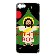 Jesus   Christmas Apple Iphone 5 Case (silver)