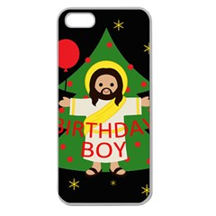 Jesus   Christmas Apple Seamless Iphone 5 Case (clear)