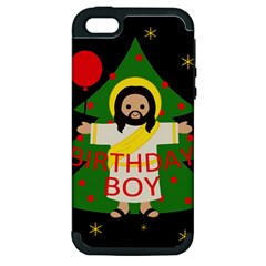 Jesus   Christmas Apple Iphone 5 Hardshell Case (pc+silicone)