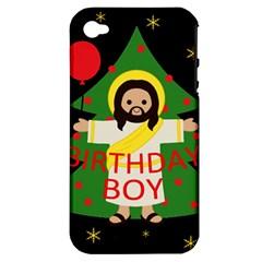 Jesus   Christmas Apple Iphone 4/4s Hardshell Case (pc+silicone)