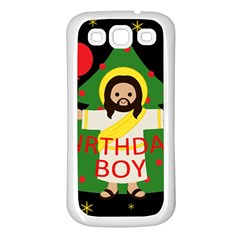 Jesus   Christmas Samsung Galaxy S3 Back Case (white)