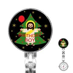 Jesus   Christmas Stainless Steel Nurses Watch
