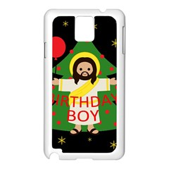 Jesus   Christmas Samsung Galaxy Note 3 N9005 Case (white)