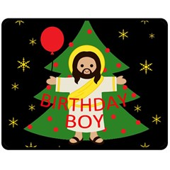 Jesus   Christmas Double Sided Fleece Blanket (medium)