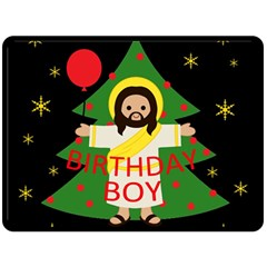 Jesus   Christmas Double Sided Fleece Blanket (large)