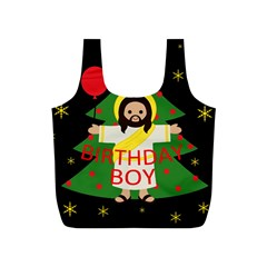 Jesus   Christmas Full Print Recycle Bags (s)
