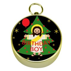 Jesus   Christmas Gold Compasses