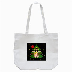 Jesus   Christmas Tote Bag (white)