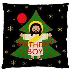 Jesus   Christmas Large Flano Cushion Case (two Sides)