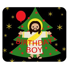 Jesus   Christmas Double Sided Flano Blanket (small)