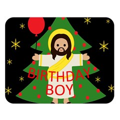 Jesus   Christmas Double Sided Flano Blanket (large)