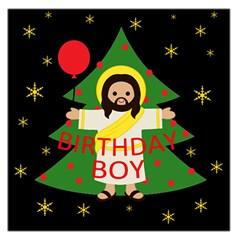 Jesus   Christmas Large Satin Scarf (square)