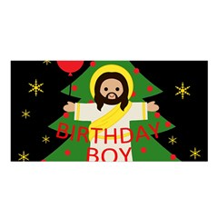 Jesus   Christmas Satin Shawl