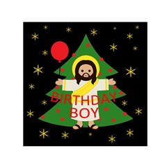 Jesus   Christmas Small Satin Scarf (square)