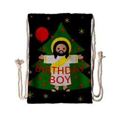 Jesus   Christmas Drawstring Bag (small)