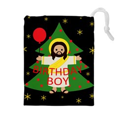 Jesus   Christmas Drawstring Pouches (extra Large)