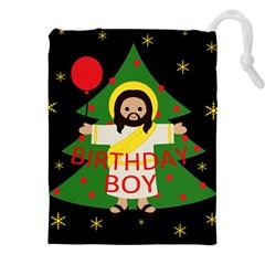 Jesus   Christmas Drawstring Pouches (xxl)