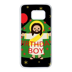 Jesus   Christmas Samsung Galaxy S7 White Seamless Case