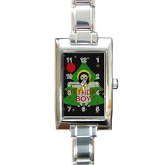 Jesus   Christmas Rectangle Italian Charm Watch