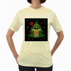 Jesus   Christmas Women s Yellow T Shirt