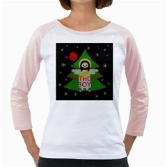 Jesus   Christmas Girly Raglans