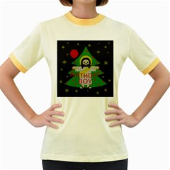 Jesus   Christmas Women s Fitted Ringer T Shirts