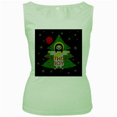 Jesus   Christmas Women s Green Tank Top