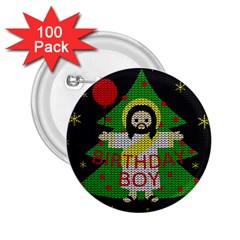 Jesus   Christmas 2 25  Buttons (100 Pack)