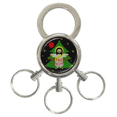 Jesus   Christmas 3 Ring Key Chains