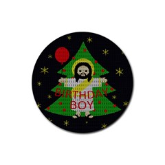 Jesus   Christmas Rubber Round Coaster (4 Pack)