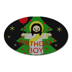 Jesus   Christmas Oval Magnet