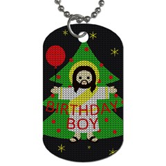 Jesus   Christmas Dog Tag (one Side)