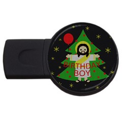 Jesus   Christmas Usb Flash Drive Round (2 Gb)
